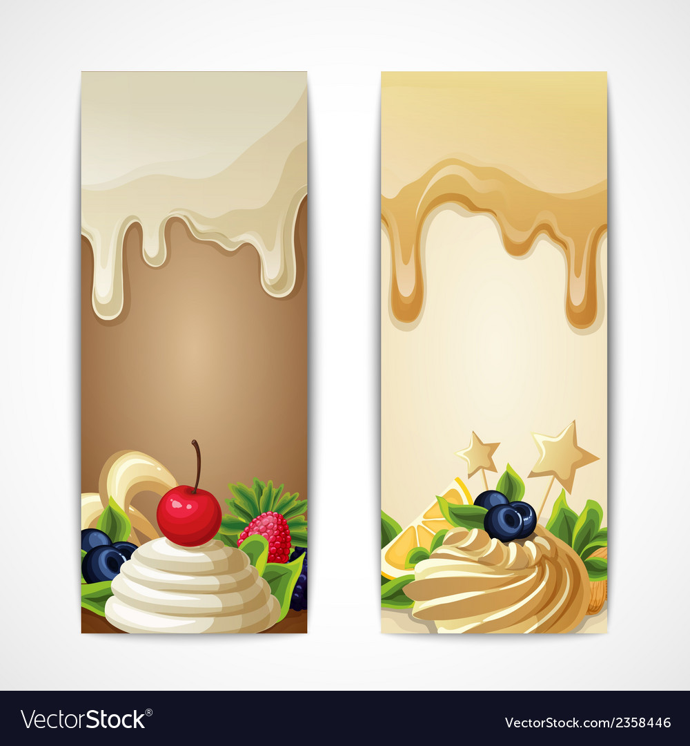 Chocolate banners vertical vector | Price: 1 Credit (USD $1)