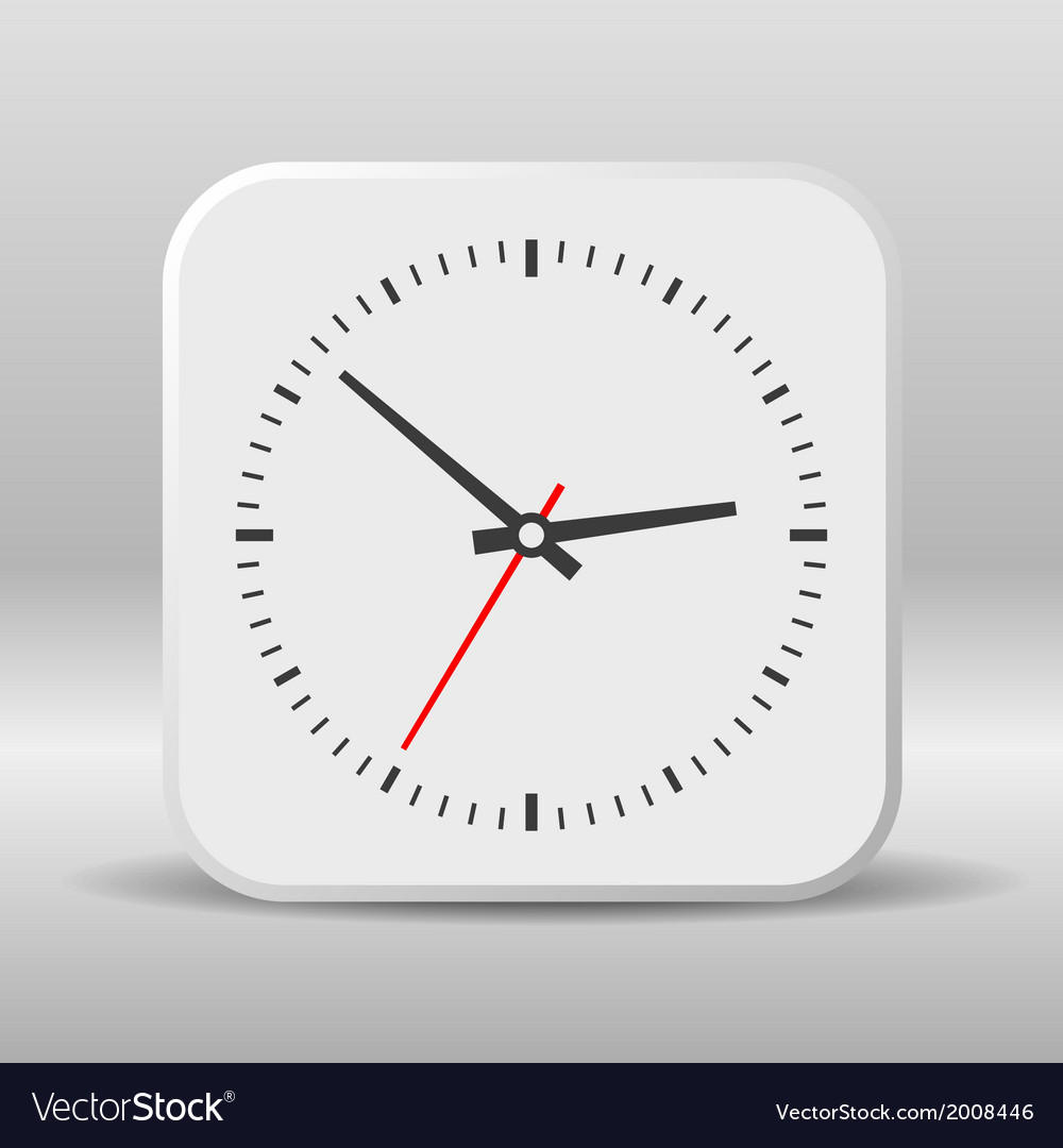 Clock icon on a white background vector | Price: 1 Credit (USD $1)