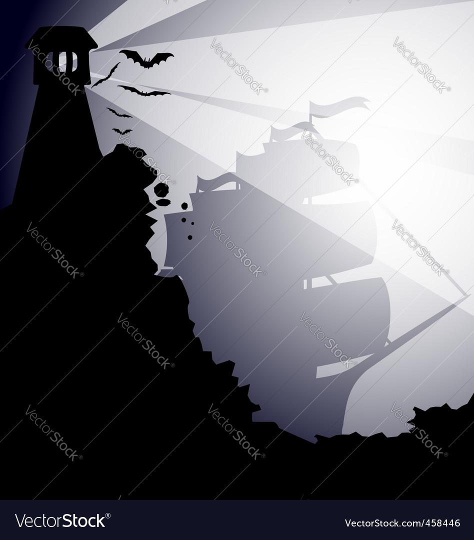 Dark landscape vector   Price: 1 Credit (USD $1)