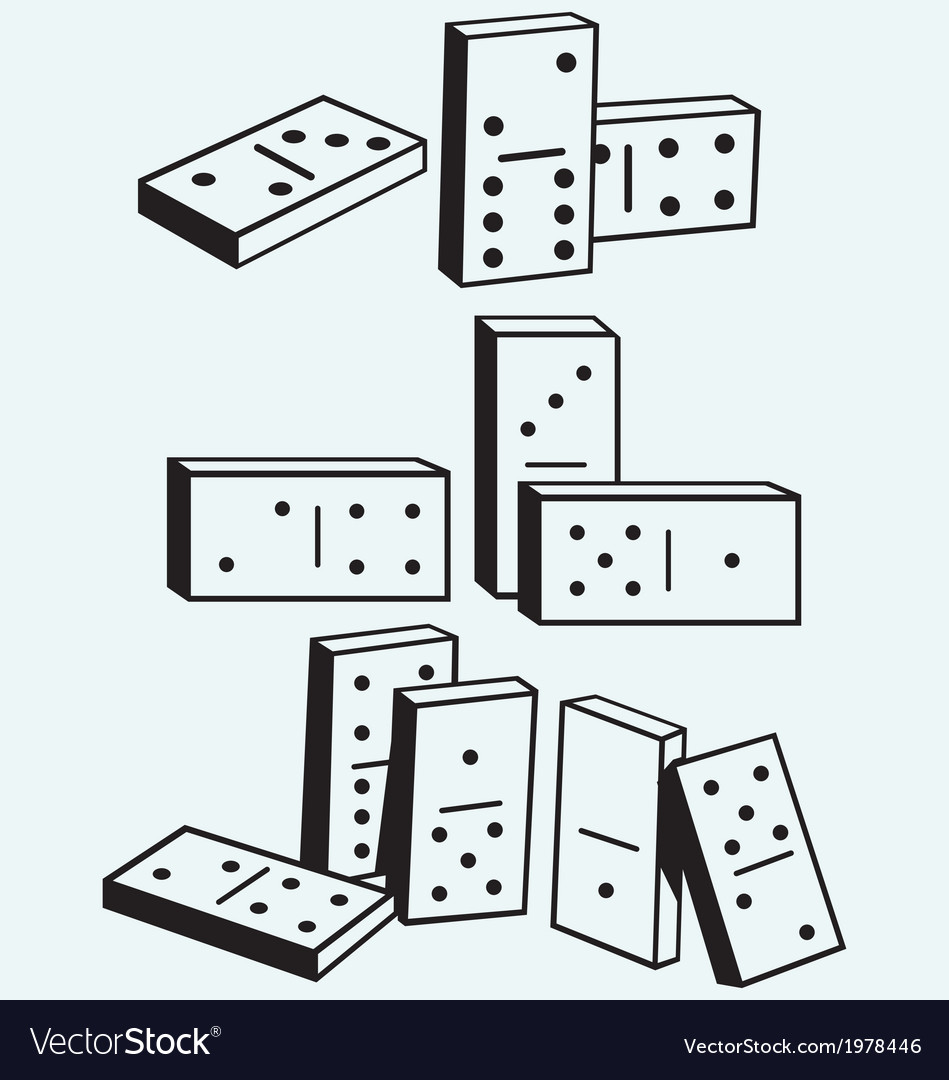 Dominoes set vector | Price: 1 Credit (USD $1)