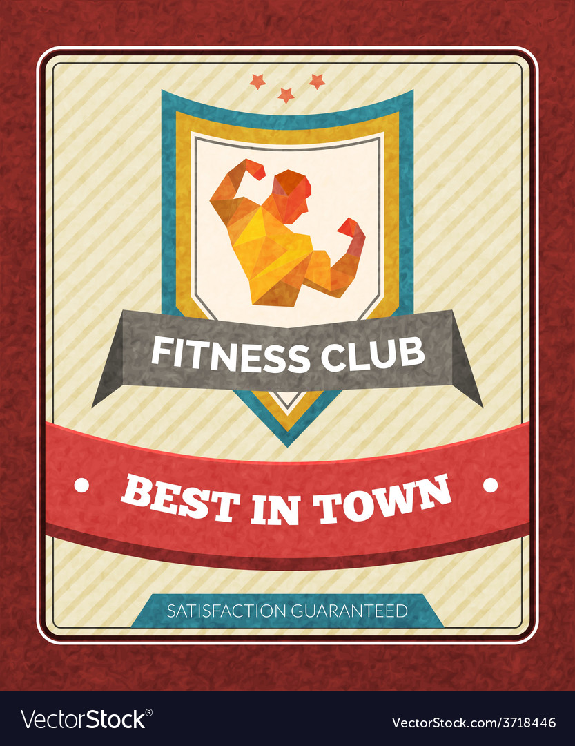 Fitness club poster vector | Price: 1 Credit (USD $1)