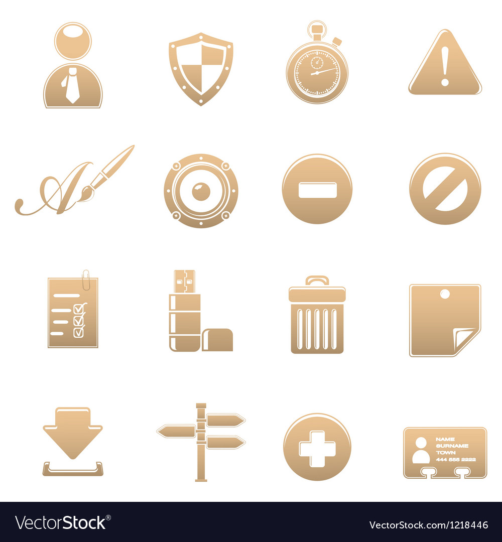 Icon set universal vector | Price: 1 Credit (USD $1)