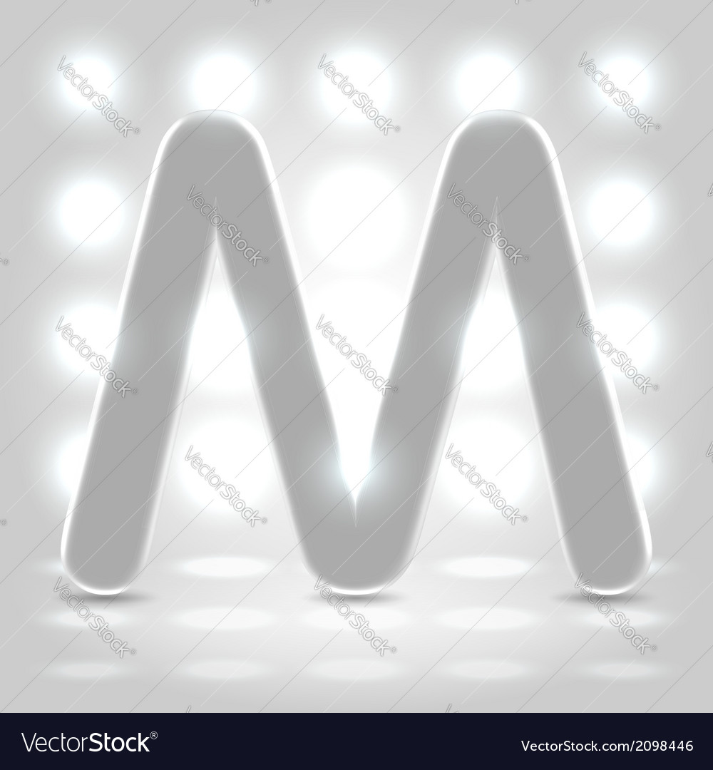 M over lighted background vector | Price: 1 Credit (USD $1)