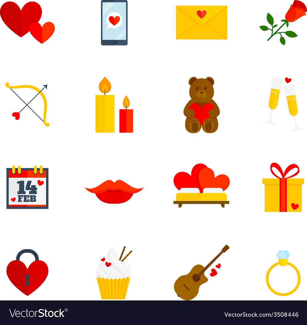 Romantic icon flat vector | Price: 1 Credit (USD $1)
