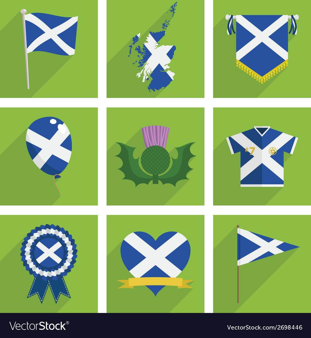 Scotland icons vector | Price: 1 Credit (USD $1)