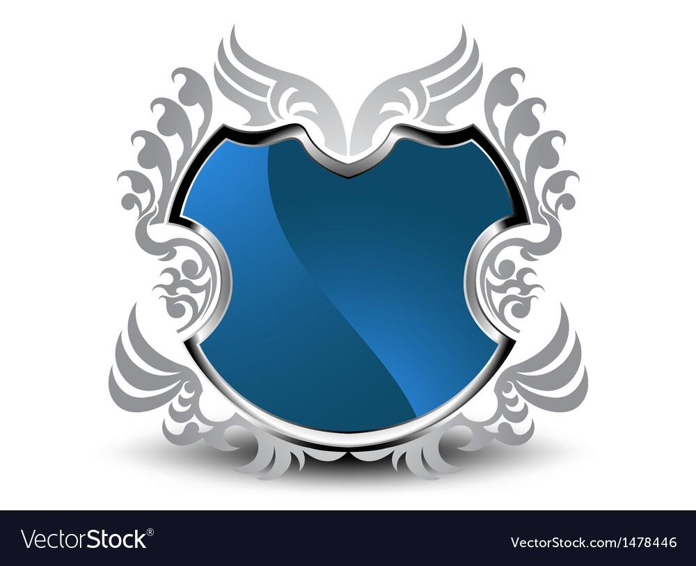 Silver shield vector | Price: 1 Credit (USD $1)