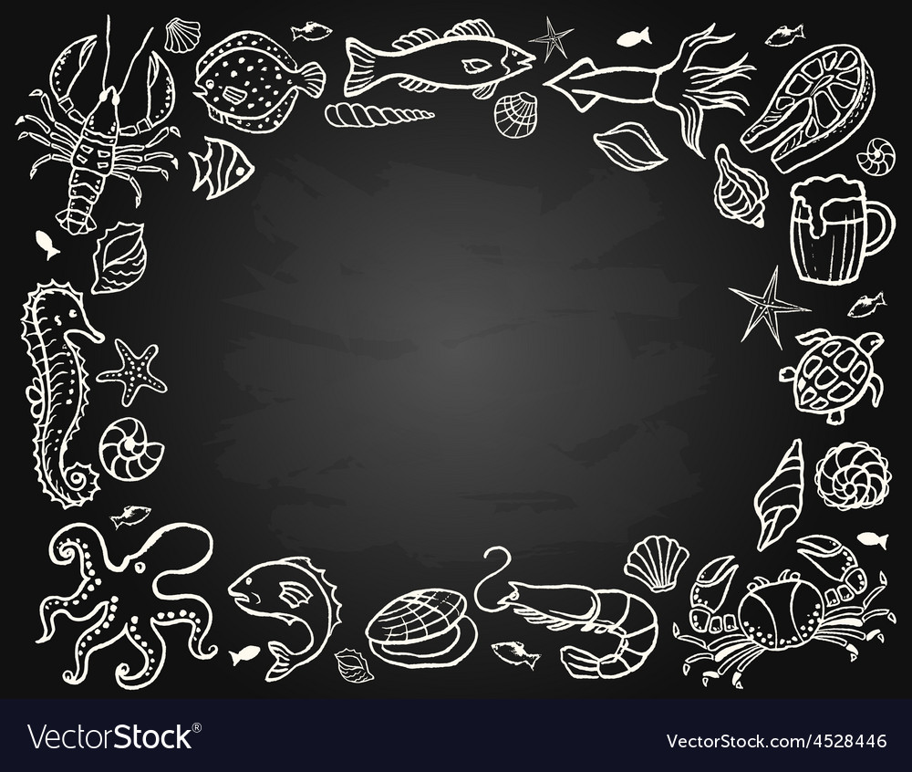 Sketch the set of seafood vector   Price: 1 Credit (USD $1)