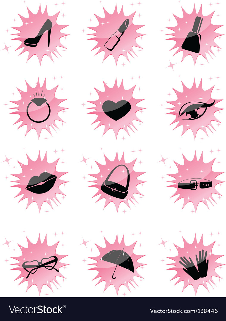 Symbol accessories icons vector | Price: 1 Credit (USD $1)