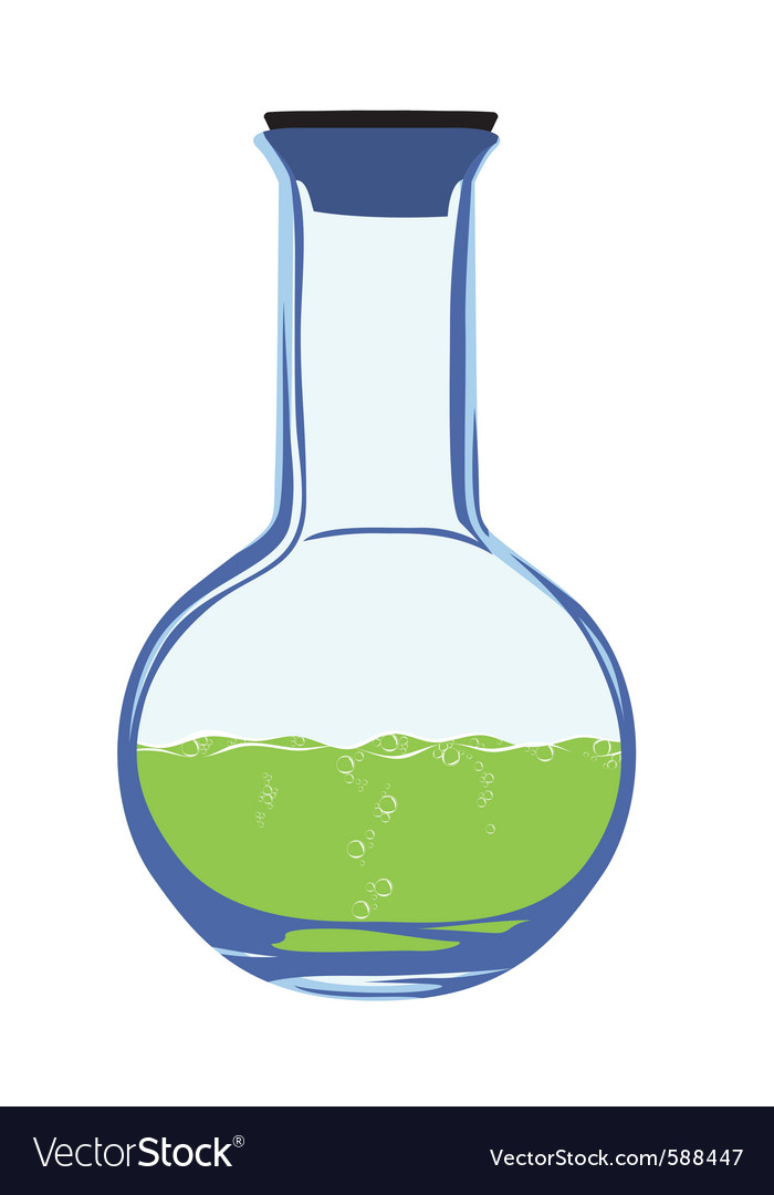 Chemistry flask vector | Price: 1 Credit (USD $1)