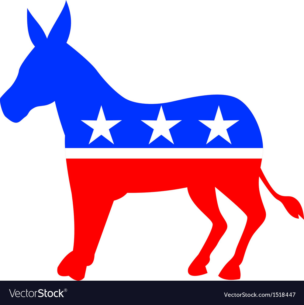 Donkey mascot american flag vector | Price: 1 Credit (USD $1)