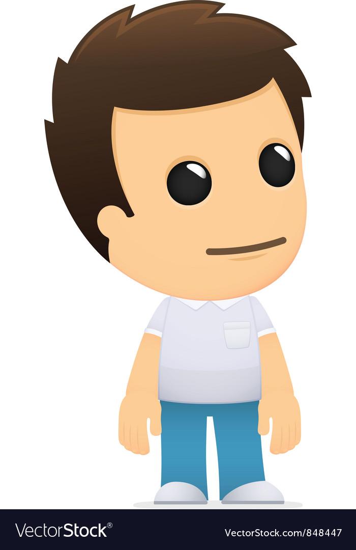 Funny cartoon casual man vector | Price: 1 Credit (USD $1)