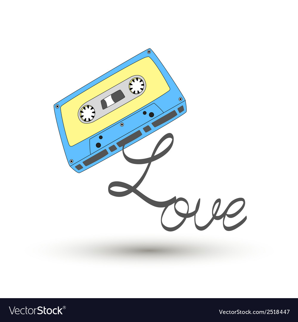 I love tape3 vector | Price: 1 Credit (USD $1)