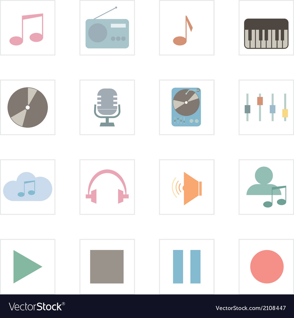 Icon music vector | Price: 1 Credit (USD $1)