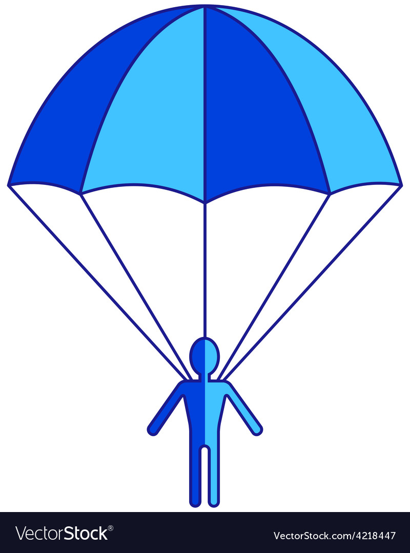 Parachuter vector | Price: 1 Credit (USD $1)