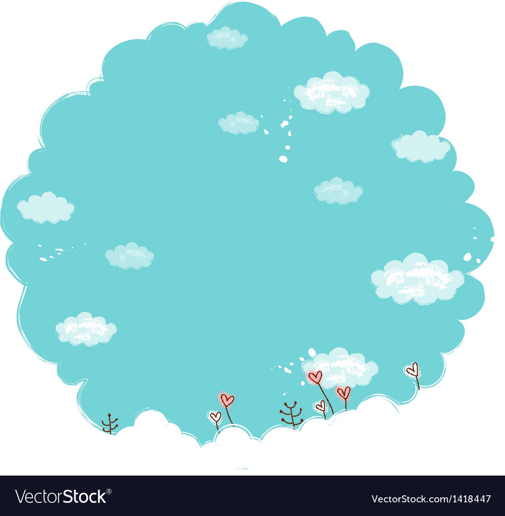 Sky clouds landscape vector | Price: 1 Credit (USD $1)