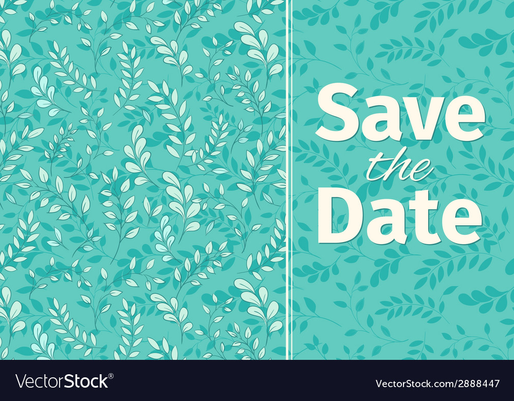 Wedding turquoise invitation template vector | Price: 1 Credit (USD $1)