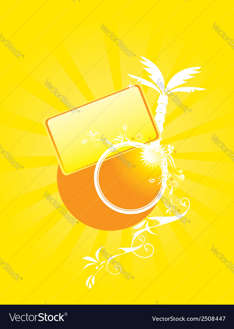 Yellow abstract sunny design vector | Price: 1 Credit (USD $1)