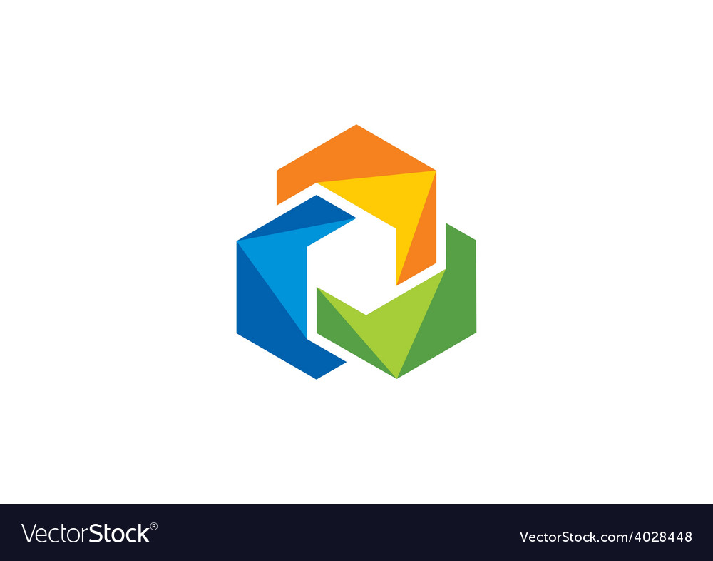 Abstract 2d circle color shape logo vector | Price: 1 Credit (USD $1)
