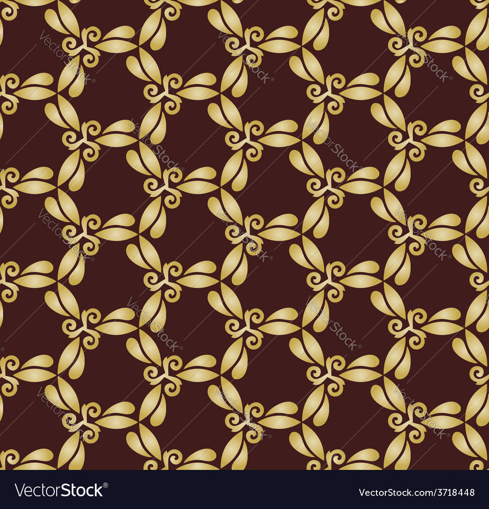 Golden abstract seamless pattern vector | Price: 1 Credit (USD $1)