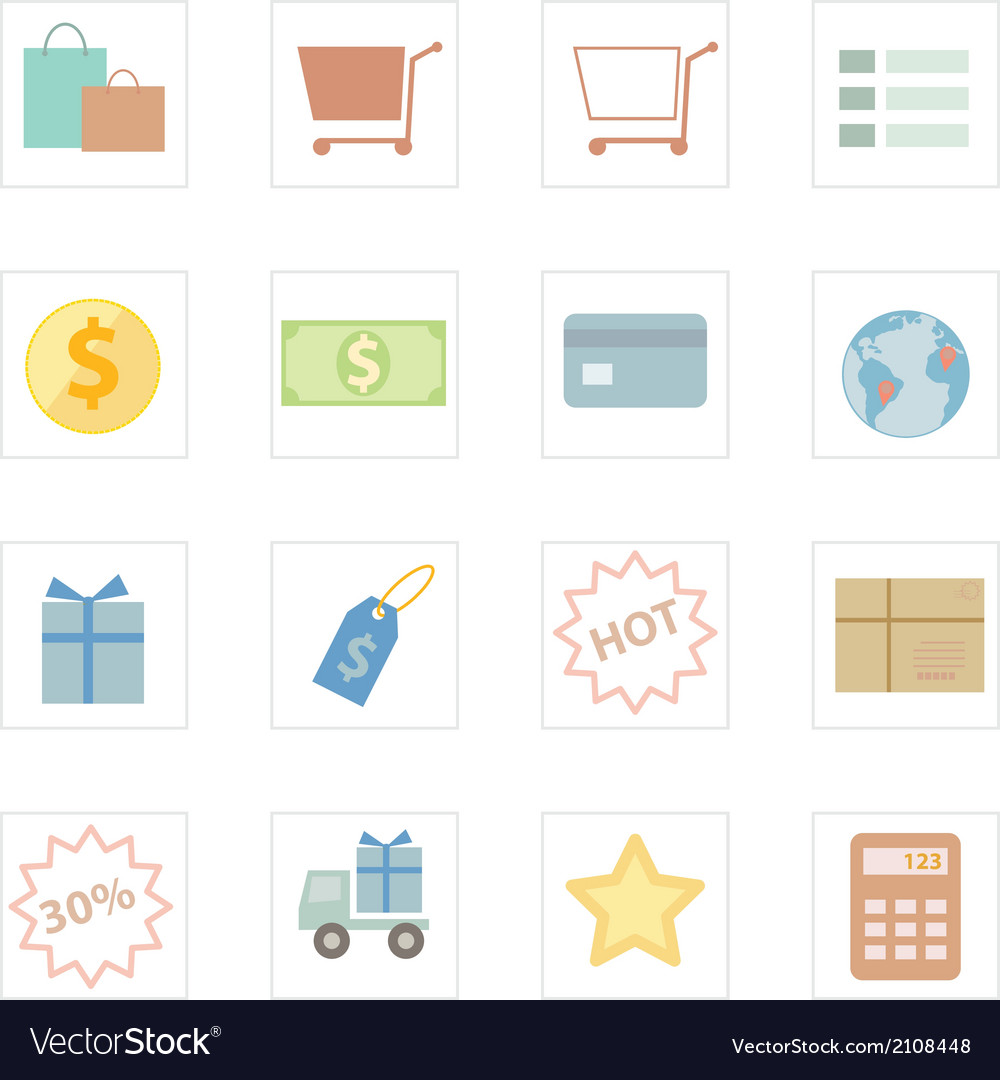 Icon shopping vector   Price: 1 Credit (USD $1)