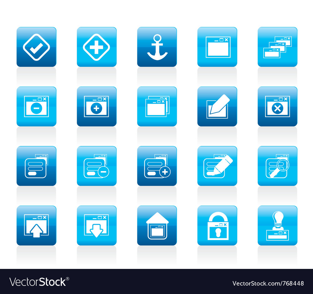 Server and computer icon vector | Price: 1 Credit (USD $1)