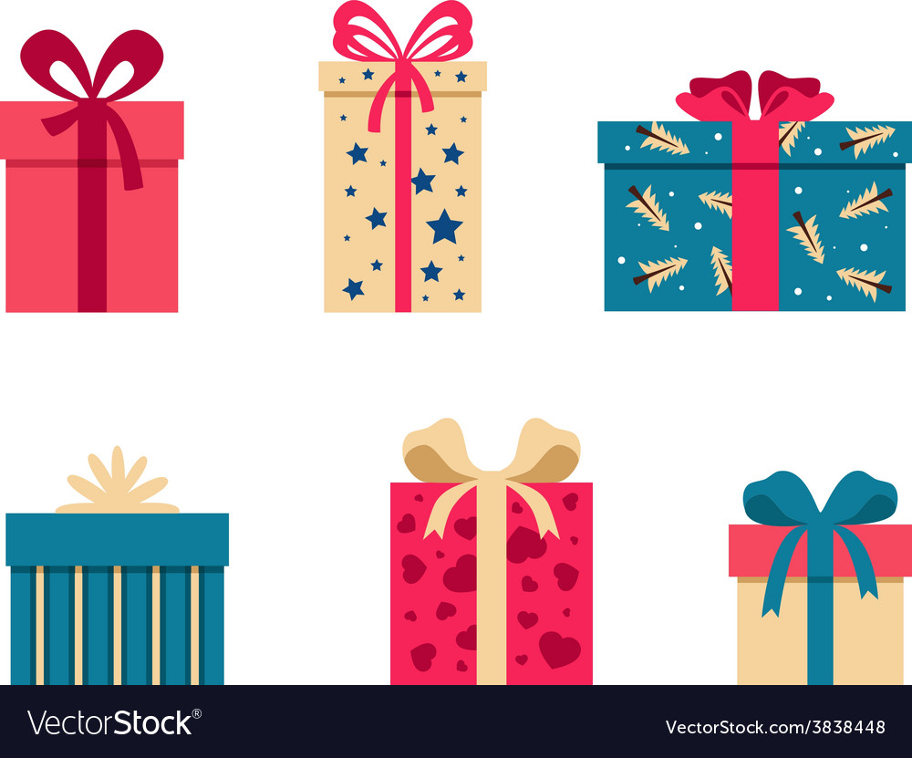 Set of colorful gift box symbols vector | Price: 1 Credit (USD $1)