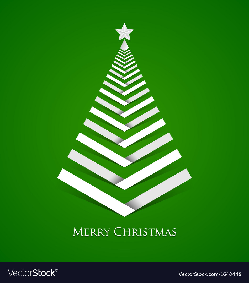 Simple christmas tree vector | Price: 1 Credit (USD $1)