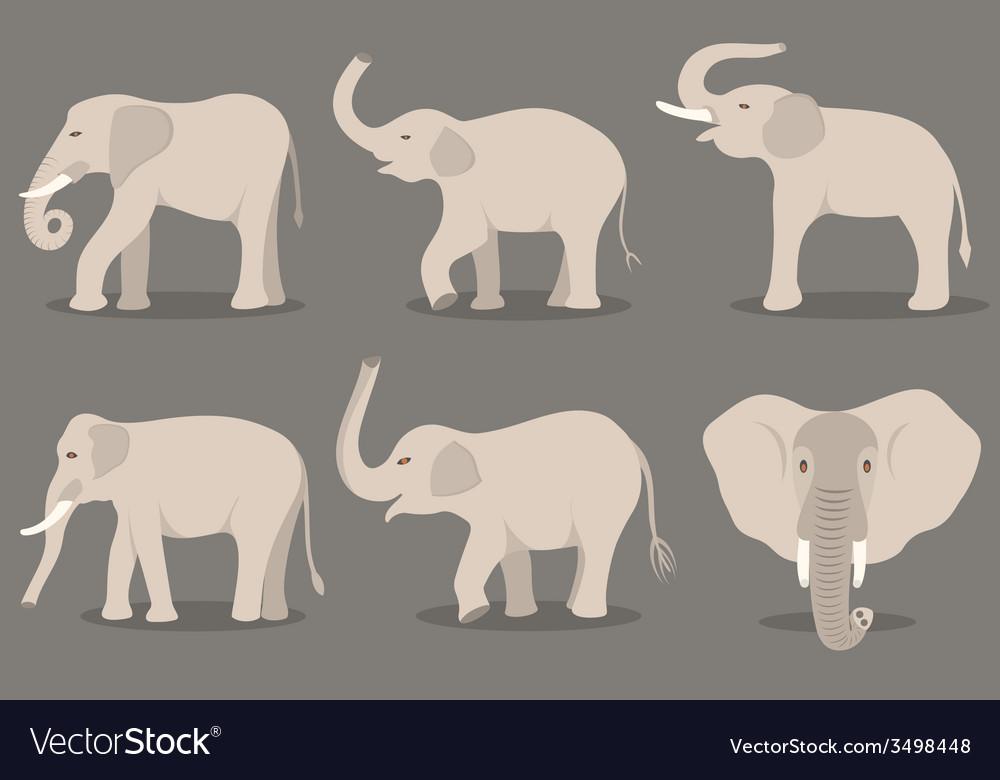 White elephant set vector   Price: 1 Credit (USD $1)