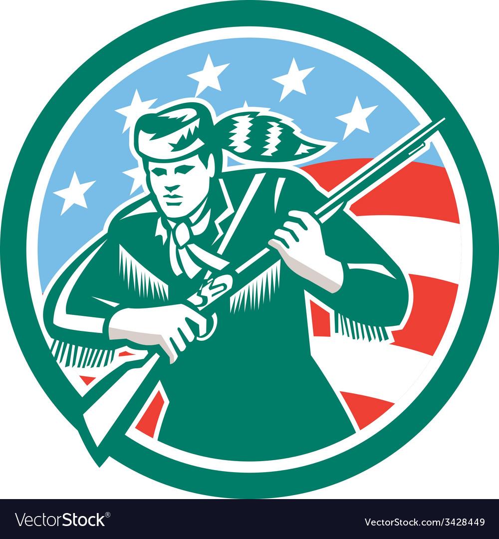 American frontiersman daniel boone circle retro vector | Price: 1 Credit (USD $1)