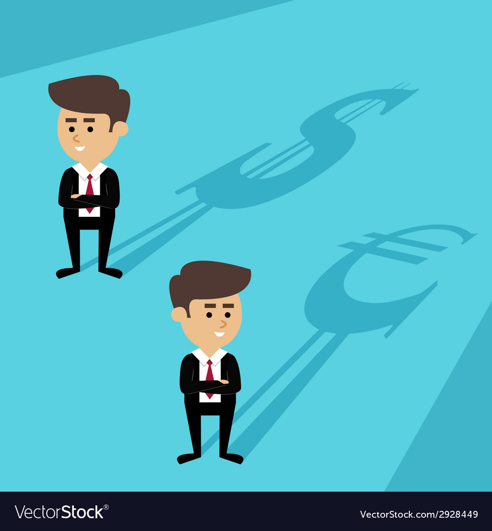 Businessmen shadow currency vector | Price: 1 Credit (USD $1)