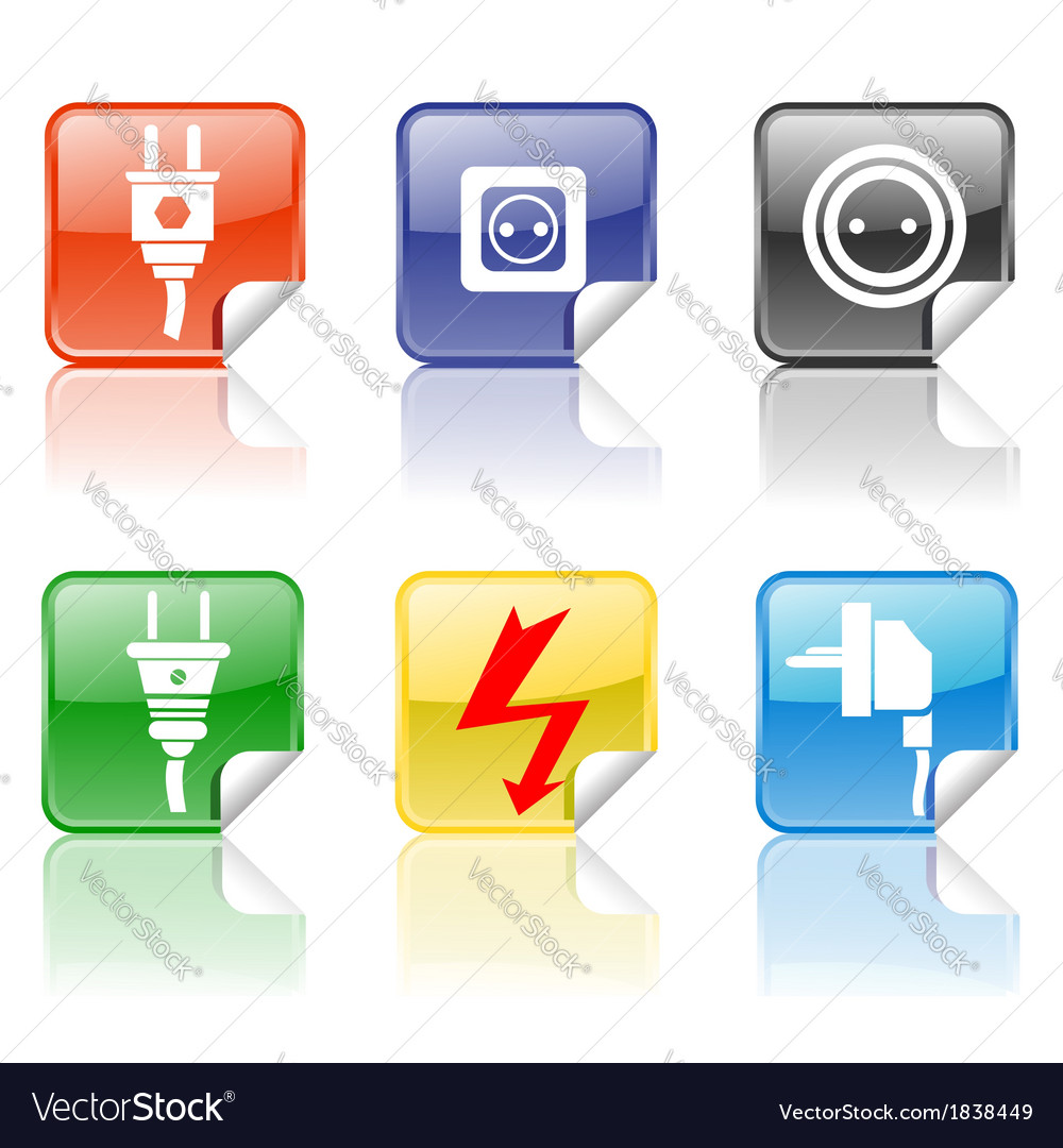 Electric icons vector | Price: 1 Credit (USD $1)