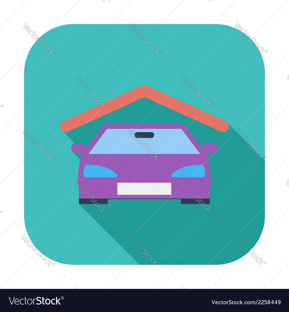 Garage icon vector | Price: 1 Credit (USD $1)