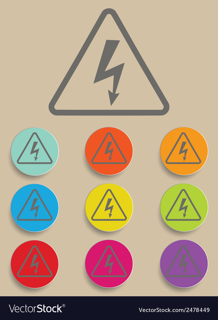 High voltage sign - vector | Price: 1 Credit (USD $1)