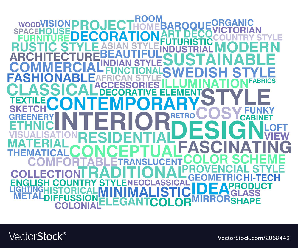 Interior design vector | Price: 1 Credit (USD $1)