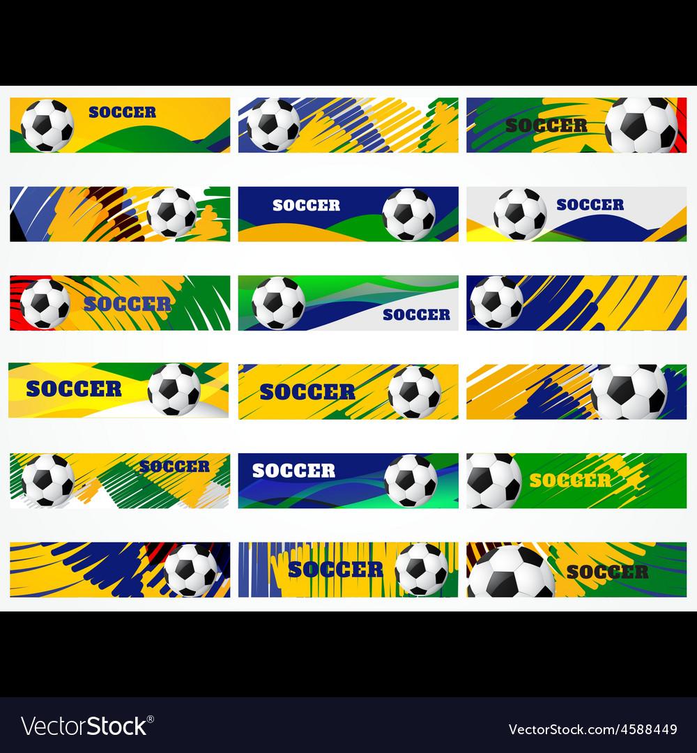 Mega set of football headers vector | Price: 1 Credit (USD $1)