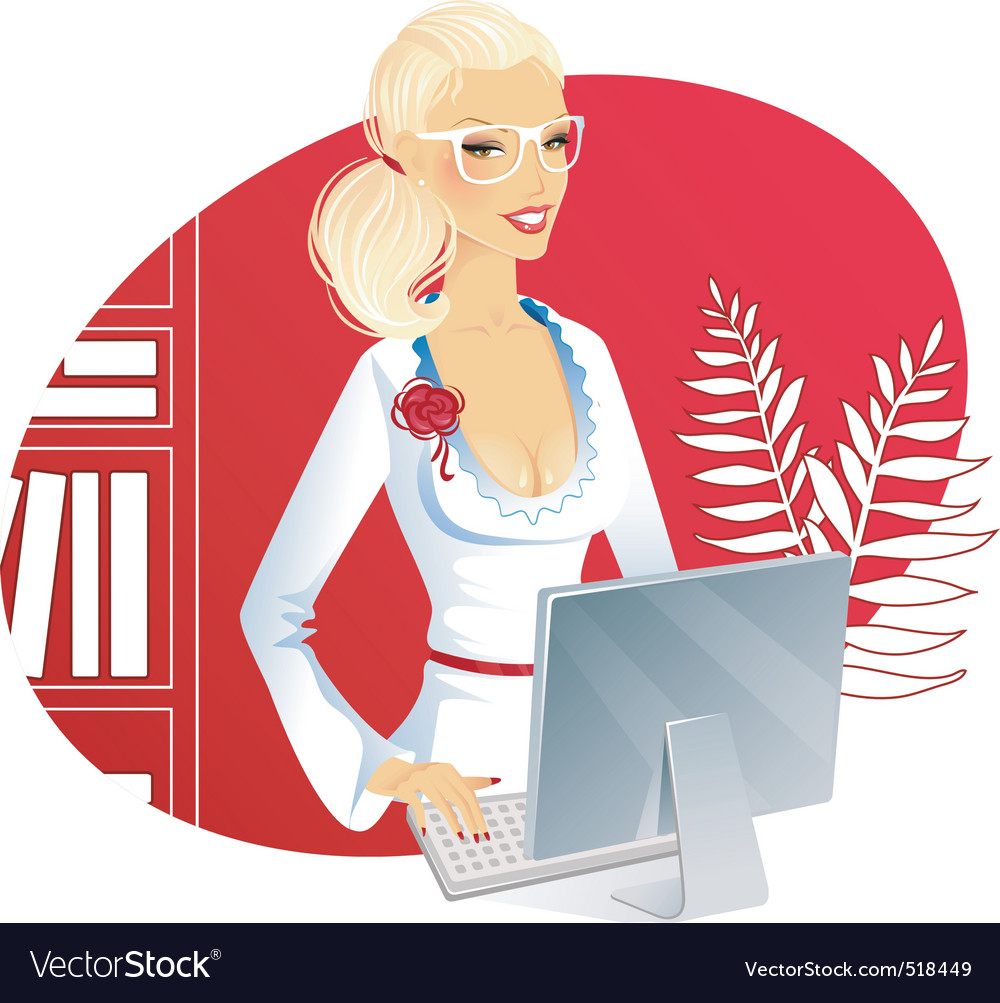 Office woman vector | Price: 3 Credit (USD $3)