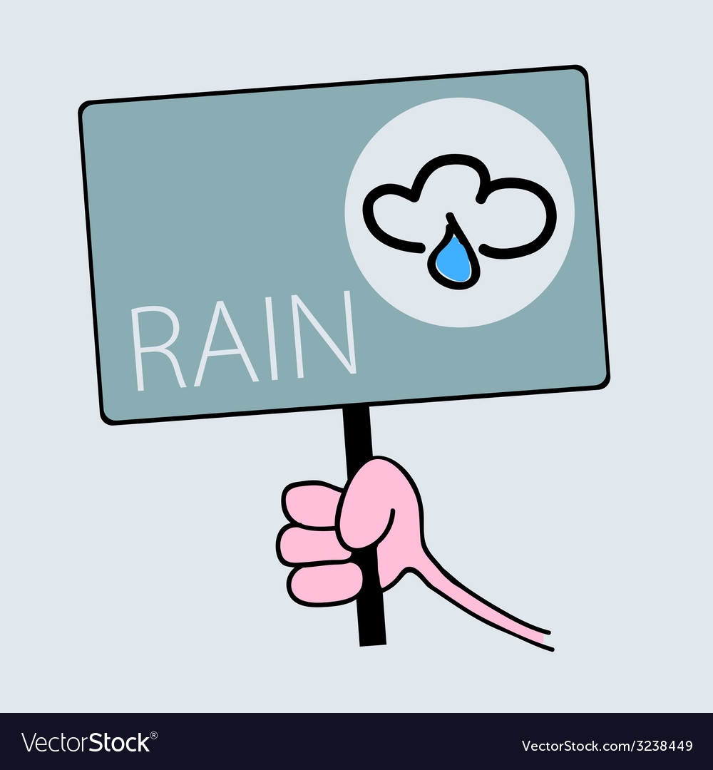 Panel for rainy weather vector | Price: 1 Credit (USD $1)