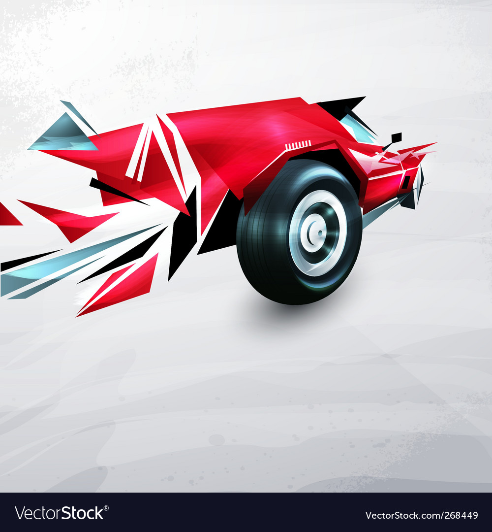 Racing car vector | Price: 1 Credit (USD $1)