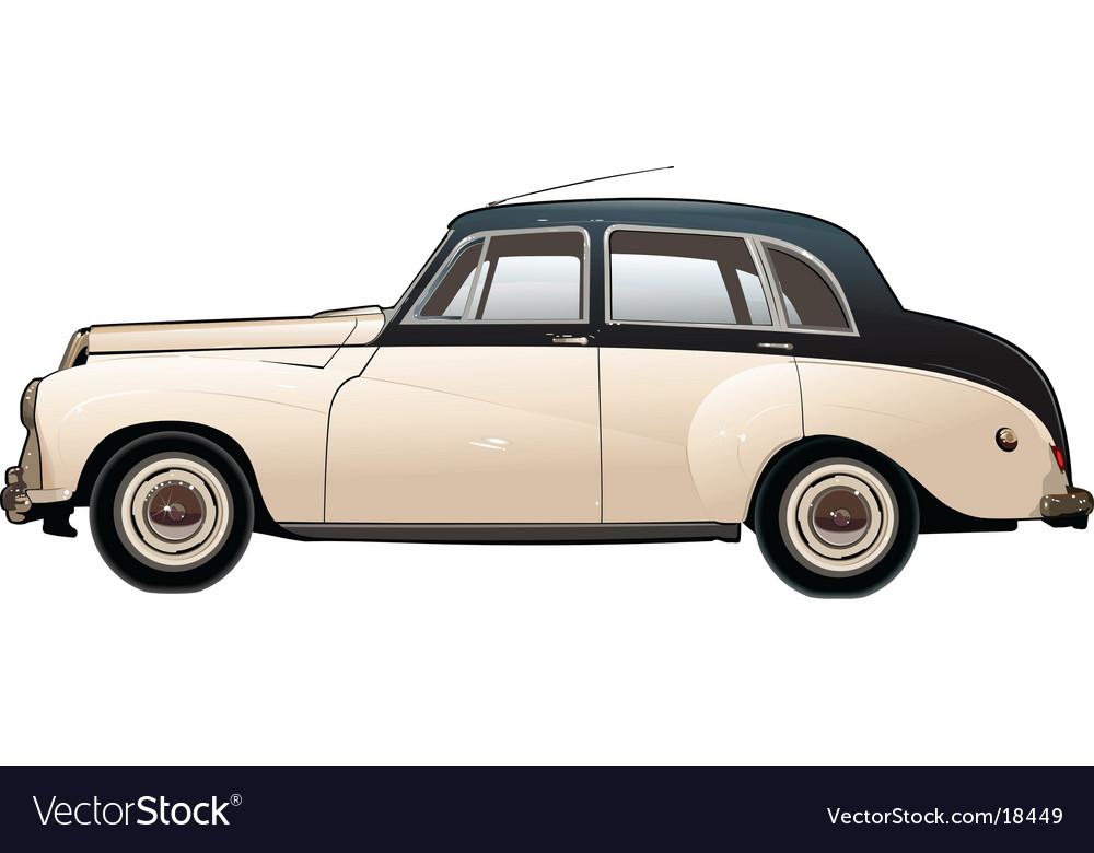 Retro car vector | Price: 3 Credit (USD $3)