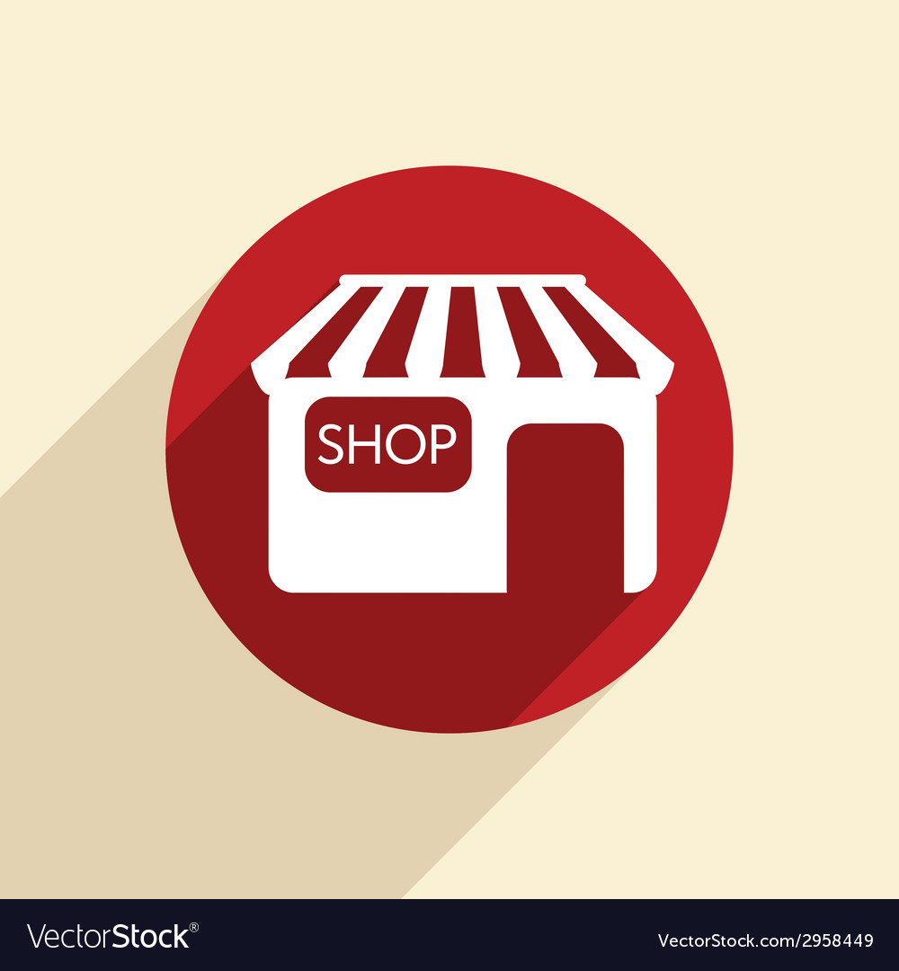 Shop building vector | Price: 1 Credit (USD $1)