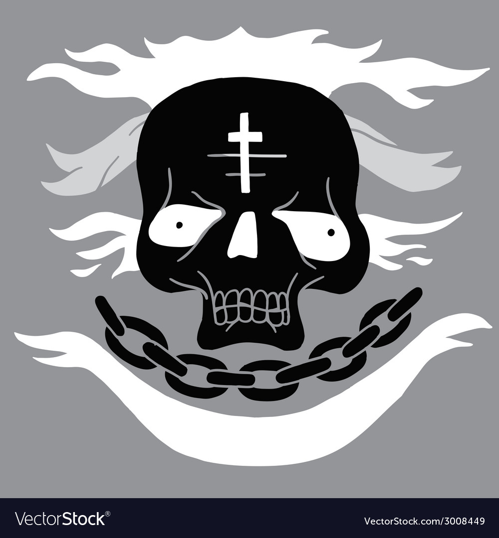Skull cartoon vector | Price: 1 Credit (USD $1)