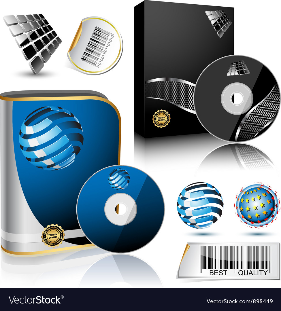 Software box vector | Price: 3 Credit (USD $3)