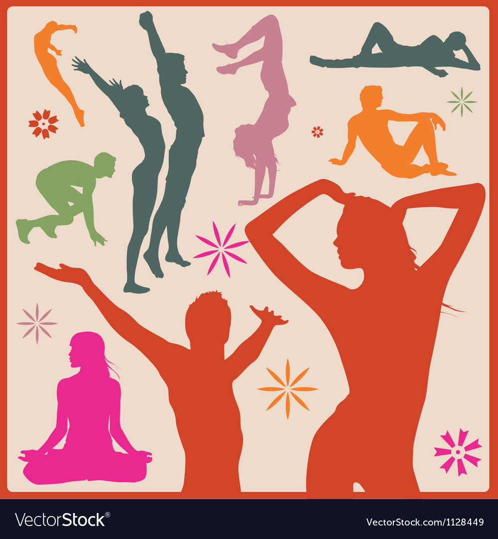 Sport people silhouettes vector | Price: 1 Credit (USD $1)