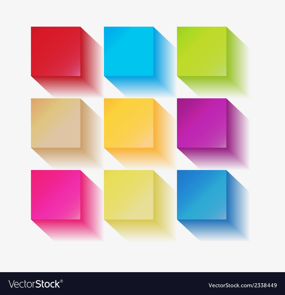 Three dimensional squares vector | Price: 1 Credit (USD $1)
