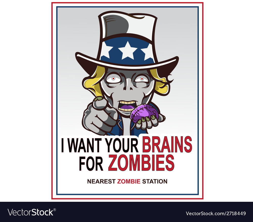 Uncle sam zombie vector | Price: 1 Credit (USD $1)