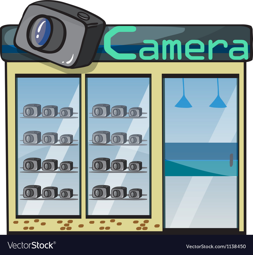 A camera shop vector | Price: 1 Credit (USD $1)