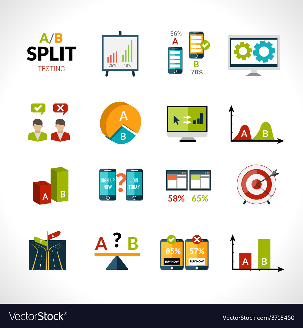 A-b testing icons vector   Price: 1 Credit (USD $1)