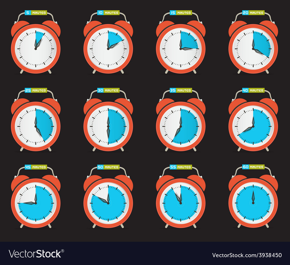 Alarm clock - time countdown set vector | Price: 1 Credit (USD $1)