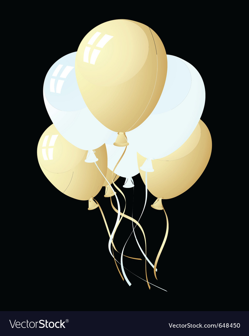 Balloons in the air vector | Price: 1 Credit (USD $1)