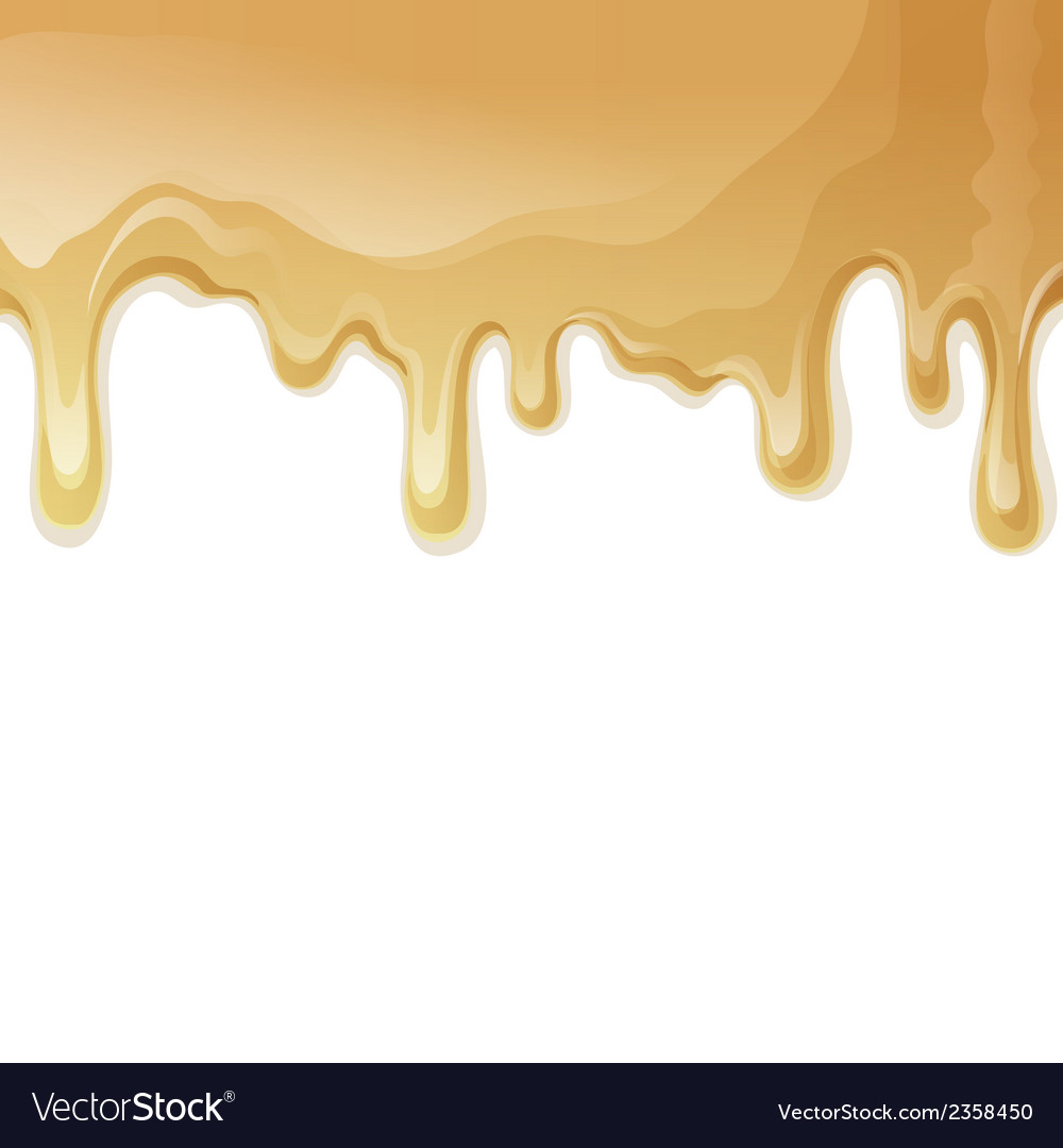 Caramel drips background vector | Price: 1 Credit (USD $1)